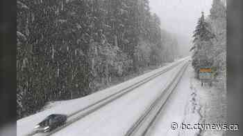 Snowfall, winter storm warnings on some highways out of Metro Vancouver - CTV News Vancouver