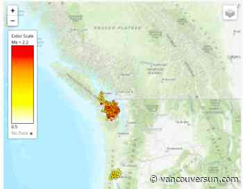 Seismologists record more than 3,500 'tiny tremors' on Vancouver Island in nine days - Vancouver Sun
