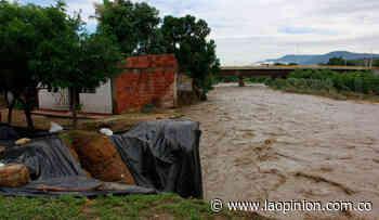 Crecida del río Pamplonita amenaza a 14 viviendas en San Rafael - La Opinión Cúcuta