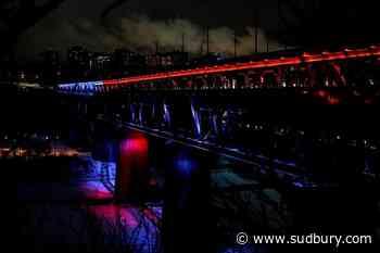 Lighting bridge in colours for anti-abortion group 'polarizing', Edmonton lawyers say