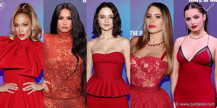 Red Was the Color of the Night at the People's Choice Awards 2020!