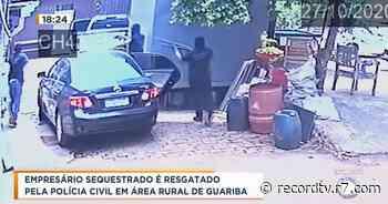 Empresário sequestrado é resgatado em área rural de Guariba - Record TV