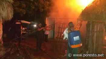 Un incendio acabó con el techo de una vivienda en Peto - PorEsto