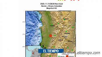 ¡Atención! registran sismo de 4.6 grados con epicentro en Chocó - El Tiempo