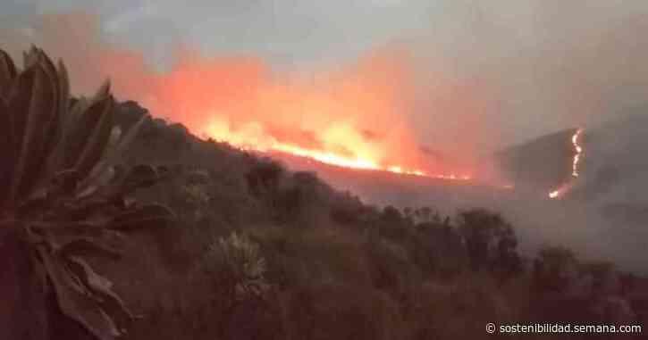 EN VIDEO: Incendio arrasa con el páramo de Cumbal en Nariño - Semana