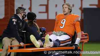 Bears QB Nick Foles being evaluated for leg, hip injury