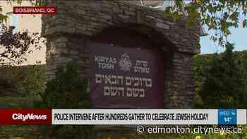 Police disperse large religious gathering in Boisbriand - Video - CityNews Edmonton