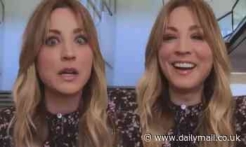 Kaley Cuoco jokes about being jealous of elderly chihuahua Sir Dump Truck stealing press attention - Daily Mail