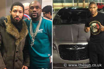 Floyd Mayweather bought Brit sparring partner Ashley Theophane a brand new Chrysler 300 for doing 'so well in - The Sun