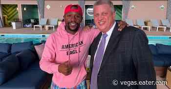 Boxer Floyd Mayweather Jr. breaks in Circa's new Stadium Swim, plus more celebrity sightings - Eater Vegas