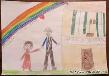 IL DISEGNO. La piccola Rachele scrive al sindaco di Induno Olona: «Uniti supereremo le difficoltà» - VareseNoi.it