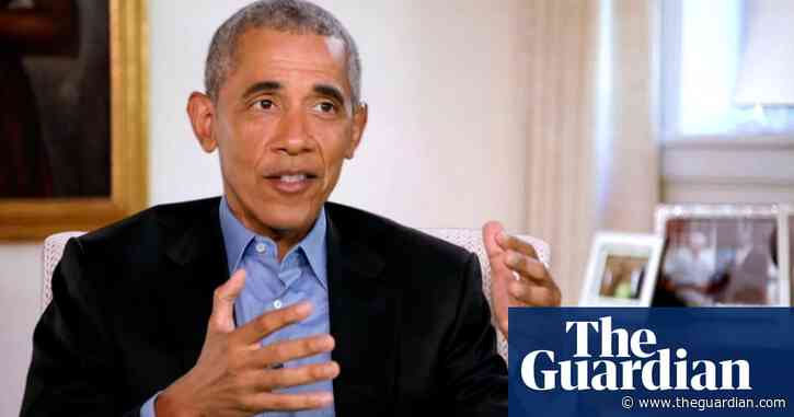 Obama hails arrival of a more 'caring government' as memoir launches –video