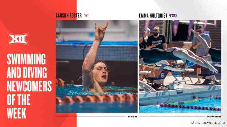 Carson Foster, Emma Hultquist Named Inaugural Big 12 Newcomers of the Week