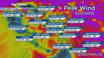 B.C. afternoon weather forecast: Nov 17