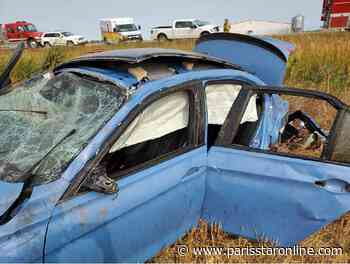 Single vehicle rollover in Treherne with multiple serious injuries - Paris Star