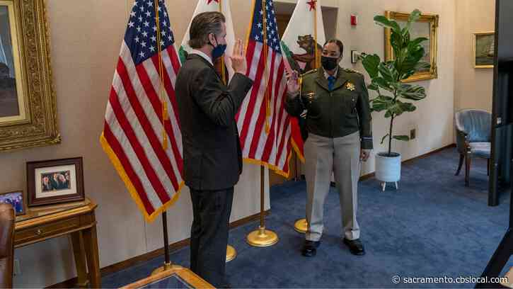First Female CHP Commissioner Amanda Ray Sworn In Tuesday