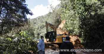 Habilitar el corredor, prioridad en la vía Heliconia - Alto El Chuscal - El Colombiano