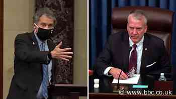 US senators Sherrod Brown and Dan Sullivan clash over face masks in chamber