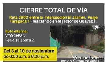 Autopistas del Café anuncia cierre entre Chinchiná y Santa Rosa de Cabal - Caracol Radio