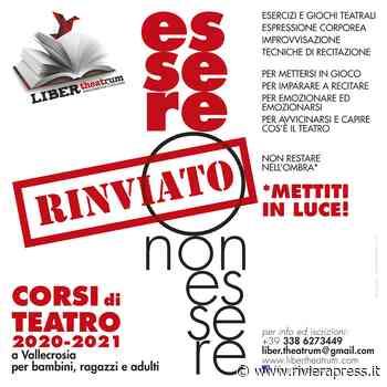 Ventimiglia, rinviati i corsi di recitazione per adulti, ragazzi e bambini - Riviera Press