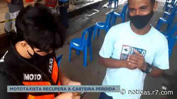 Mototaxista de Mateus Leme (MG) recupera carteira perdida - HORA 7