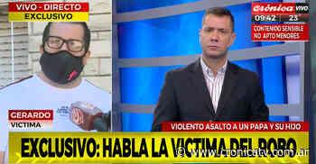 Brutal robo a padre e hijo en Villa Ballester - Crónica TV