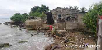 Por huracán Iota el mar amenaza con llevarse un colegio en Moñitos, Córdoba - EL HERALDO