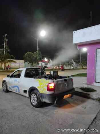 Inicia programa de nebulización preventiva en Isla Mujeres - Cancún Mio