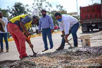 Rehabilitan cruce peatonal en Zona Continental de Isla Mujeres - Cancún Mio
