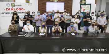 @LauraBeristain mantiene diálogo con empresarios de la 5ta Avenida en Solidaridad - Cancún Mio