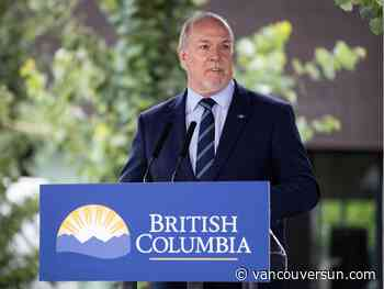 Premier to recall B.C. legislature on Dec. 7