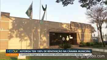 Nenhum vereador é reeleito, e Câmara de Astorga será 100% renovada; veja nova configuração - G1