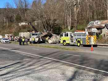 Tractor trailer overturns, blocks northbound US 220 near Clearbrook - WFIR News Talk Radio