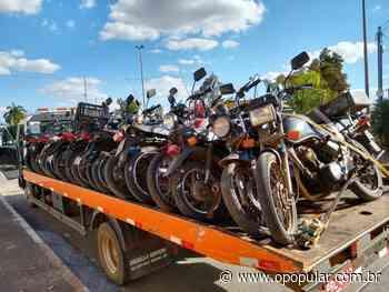 PM retira mais de mil motocicletas irregulares das ruas em Aparecida - O Popular