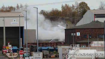 Großbrand auf Recyclinghof in Espenhain - Radio Leipzig