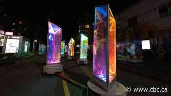 Lumiere's multicolour prisms brighten up Vancouver amidst COVID-19 restrictions - CBC.ca