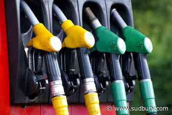Most Sudbury gas stations at 109.9, but several others around the 105.6 mark