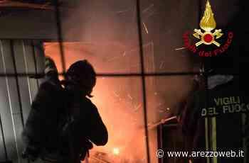 Prende fuoco una capanna in lamiera a Montevarchi, nessun ferito - ArezzoWeb