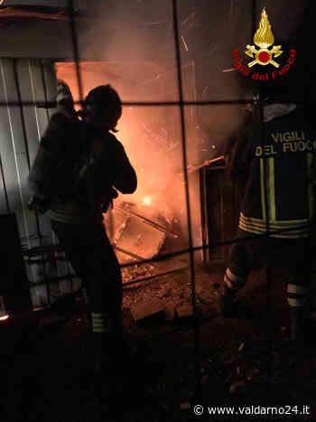 Prende fuoco una capanna di lamiera a Montevarchi. Nessun ferito - Valdarno24