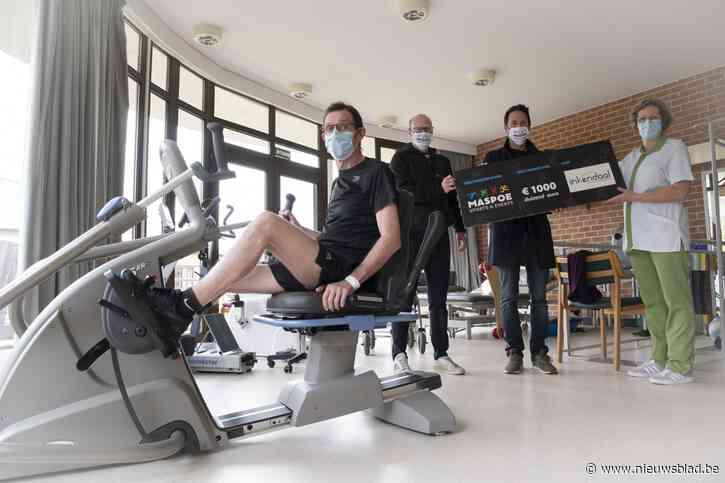 Maspoe schenkt ondanks rampjaar 1.000 euro aan revalidatieziekenhuis <BR />