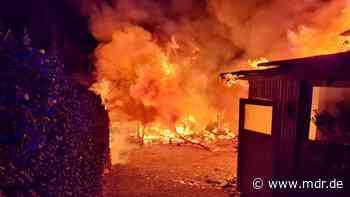 Brand zerstört Wohnhaus in Meerane - MDR