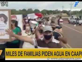 Pobladores claman por servicio de agua potable en Caapucú - ÚltimaHora.com