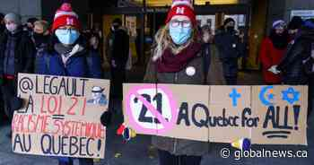 Court challenge to Quebec's Bill 21 temporarily on hold after positive COVID-19 test