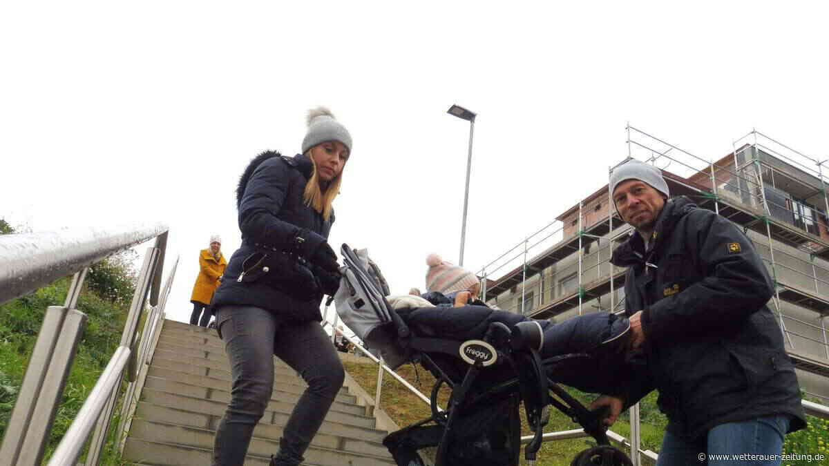 Karbener beschweren sich über zu steile Treppe im Baugebiet Kalkofen - Wetterauer Zeitung