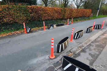 Verkeersremmers al na één dag beschadigd