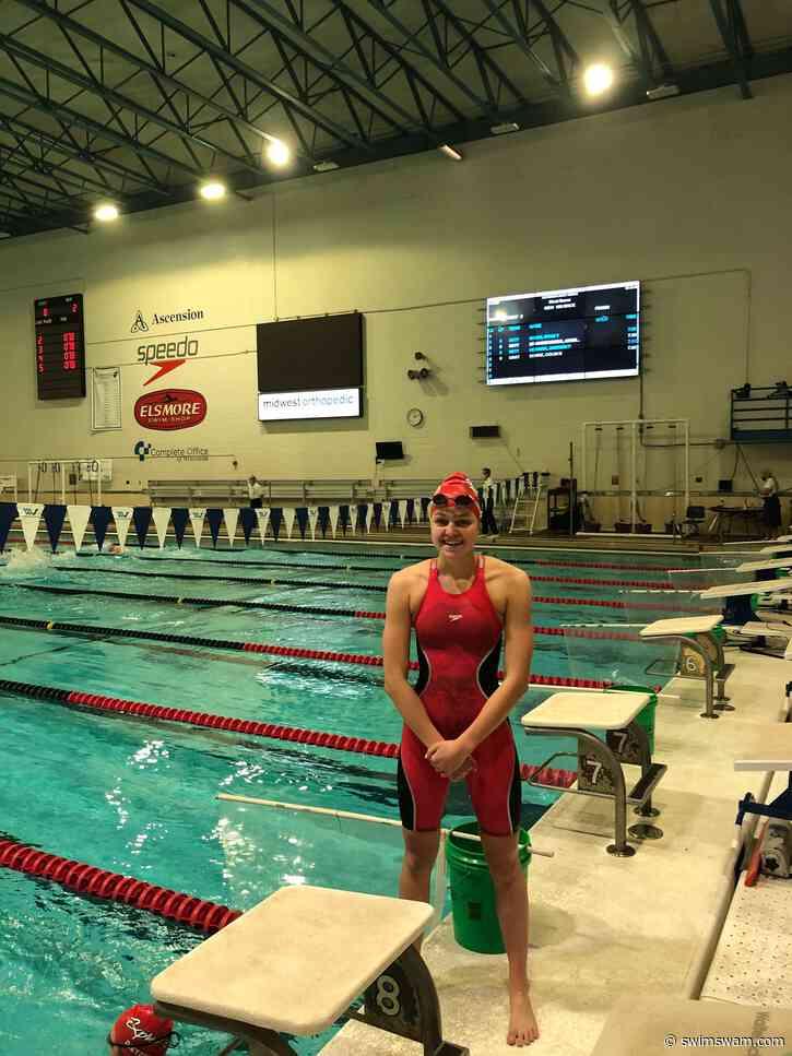 16-Year Old Faith Johnson of Rocket Aquatics Hits First Olympic Trials Standard