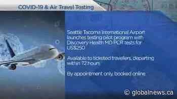 New COVID-19 tests offered to U.S. travellers