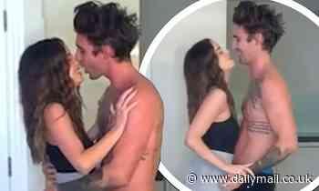 Love Island's Chris Taylor and Maura Higgins KISS on camera