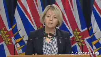 B.C. health officials report 538 new cases of COVID-19, one additional death