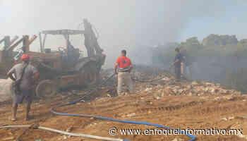 Basurero clandestino se incendia en Llano largo. - Enfoque Informativo